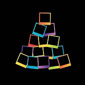 Christmas tree with polaroids