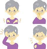 Disease Symptoms 01, old woman