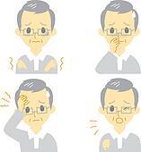 Disease Symptoms 01, old man