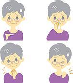 Disease Symptoms 02, old woman