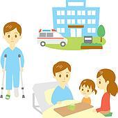 injured man in hospital