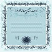 Certificate or coupon in blue color for design