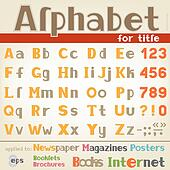 Alphabet for title