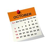 2014 calendar for October.
