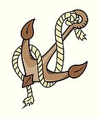 Rope and Anchor - Vector