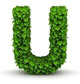 Leaves font letter U