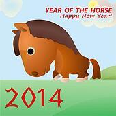 Funny excellent horse as a symbol o