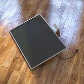 Modern Tv Screen On The Laminate