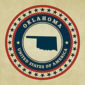 Vintage label Oklahoma
