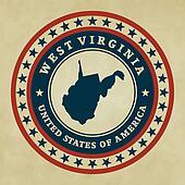 Vintage label West Virginia