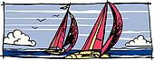 Sailboat graphic Vector
