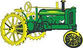 Antique Green Tractor