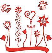 Flowers & birds ornament