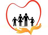 Family love logo vector
