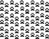 Dog foot print background