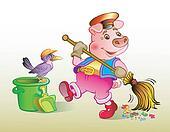 Piglet dustman