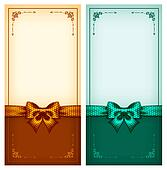Vintage greeting cards gold and green
