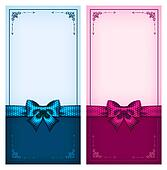 Vintage cards blue and pink