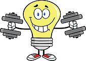 Light Bulb With Dumbbells