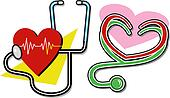 stethoscopes with hearts