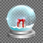 Snow globe with gift box