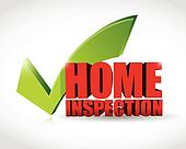 home inspection approval check mark illustration