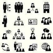Businesswomen icons