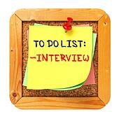 Interview Concept. Yellow Sticker on Bulletin.