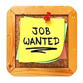 Job Wanted. Yellow Sticker on Bulletin.