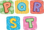 Quilt Alphabet Letter P Q R S T