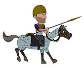 Ancient Spanish warrior cartoon