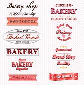 Collection of vintage bakery logo