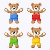 Teddy Bears with Pants