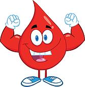 Blood Drop Showing Muscle Arms