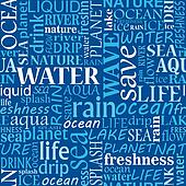 Seamless water tags cloud