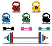Colorful fitness equipment