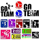 Cheerleader Go Team Designs