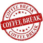 Coffee Break Red stamp