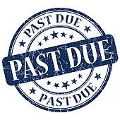 Past Due Blue Stamp
