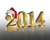 2014 New year santa hat