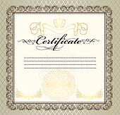Certificate or coupon for design
