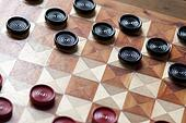 Vintage Checkerboard with Checkers