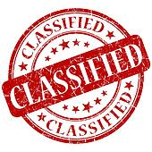 Classified red stamp