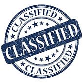 Classified Blue stamp