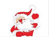 Santa Claus say hello