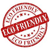 ECO FRIENDLY red stamp