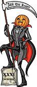 Halloween Pumpkin Head Jack Reaper