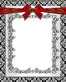 Ornamental frame damask