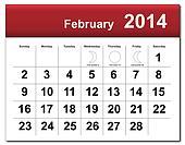 February 2014 calendar