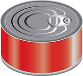 Canned Food Clip Art - Royalty Free - GoGraph